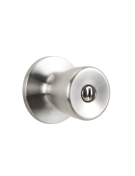 Gatehouse Gallo Brushed Stainless Steel No Deadbolt Privacy Door Knob Single Pack by Lowe's