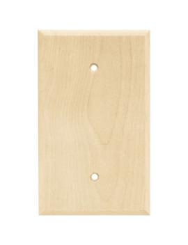 Brainerd Wood Square 1 Gang Light Wood Single Standard Wall Plate by Lowe's