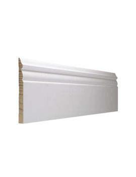 Ever True 5.25 In X 8 Ft Interior Pine Primed Finger Joint Baseboard Moulding by Lowe's