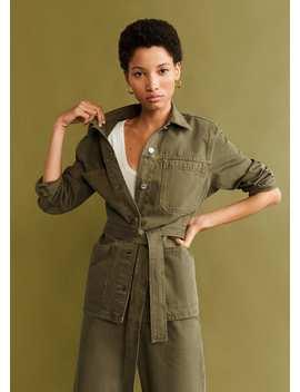 Denim Cotton Jacket by Mango