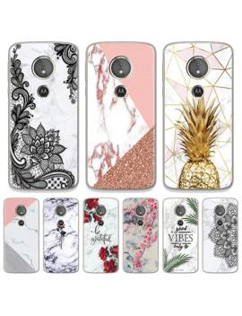 Marble Flowers Soft Case For Motorola Moto G6 E4 E5 G4 G5 G5 S Plus G4 G6 Z Z2 Z3 E5 G7 Play Go C G3 One G7 Power Pineapple Shell by Ali Express.Com