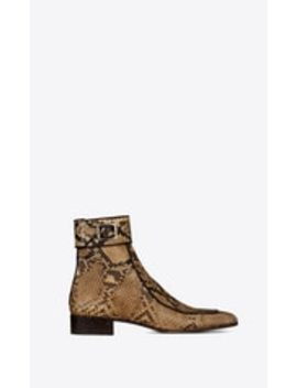Miles Boots In Python by Saint Laurent