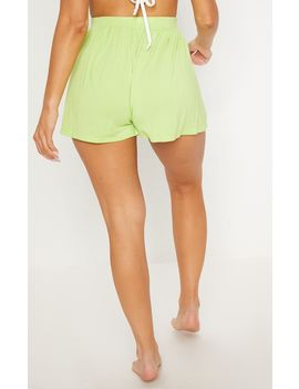 Lime Jersey Floaty Short by Prettylittlething