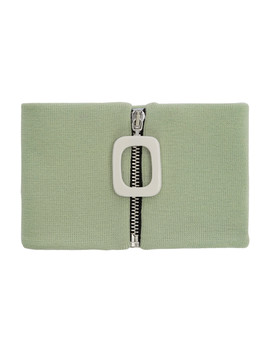 Green Zip Up Neck Scarf by Jw Anderson