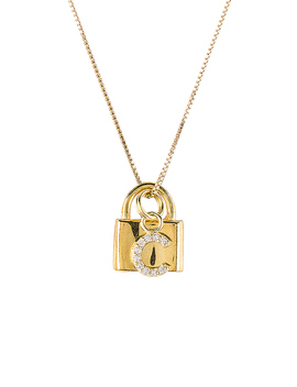 The Lock C Initial Necklace Im Gold by The M Jewelers Ny