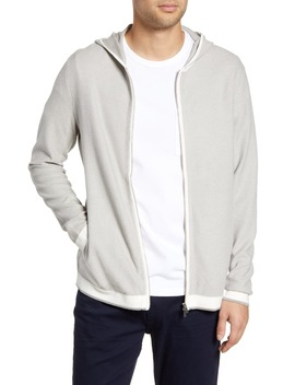 Braghe Regular Fit Zip Hooded Cardigan by Theory