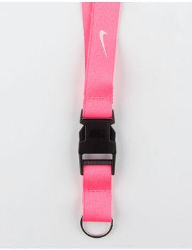 Nike Pink &Amp; White Lanyard by Nike