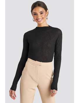High Neck Basic Top Black by Na Kd Trend