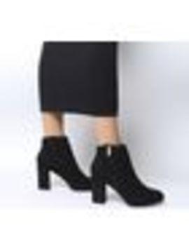 Alarm Side Zip Block Heel Boots by Office