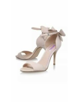 Kurt Geiger Sandals Size 5 Miss Kg Nude Back Bow High Heel Shoes £85 Bnib by Ebay Seller