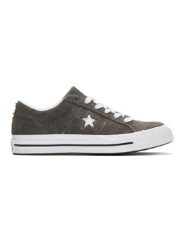 Grey Suede One Star Vintage Ox Sneakers by Converse