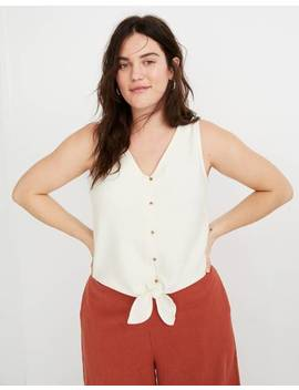 Texture & Thread Button Front Tie Tank Top by Madewell