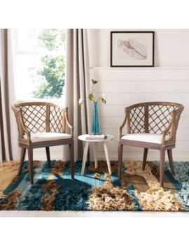 Safavieh Country Classic Dining Carlotta Griege Arm Chair by Safavieh