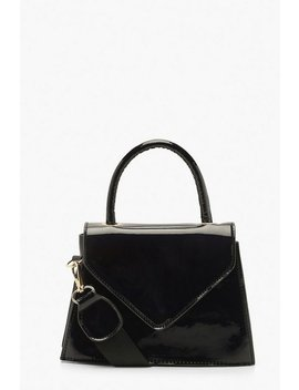 Patent Envelope Structured Mini Grab Bag by Boohoo