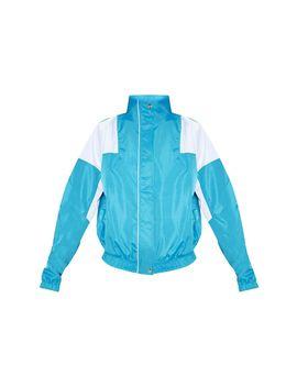 Blue Oversized Shell Tracksuit Jacket  by Prettylittlething
