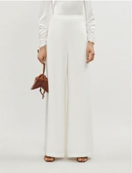 Espionage Crepe Wide Leg Trousers by Zimmermann