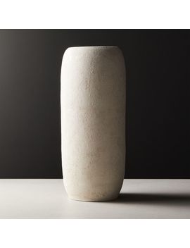 Palmilla Ivory Textured Vase by Crate&Barrel