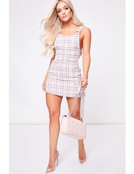 Lottie Pink Check Pinafore Dress by Misspap