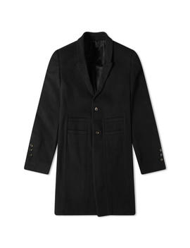 Rick Owens Single Breasted Wool Overcoat by Rick Owens