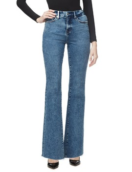 Good Flare Fray Hem Jeans by Good American