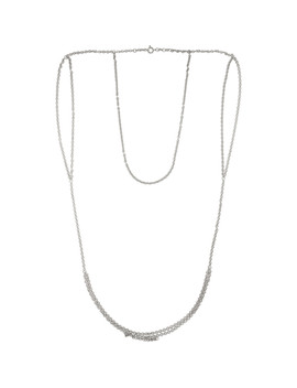 Silver Vest Necklace by D'heygere