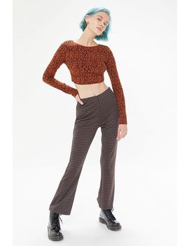 Uo Rome Jacquard Strappy Back Cropped Top by Urban Outfitters