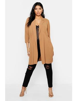 Plus Woven Pocket Duster by Boohoo