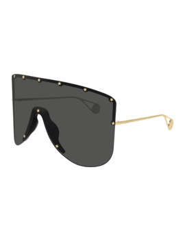 Men's Star Trim Shield Sunglasses by Gucci