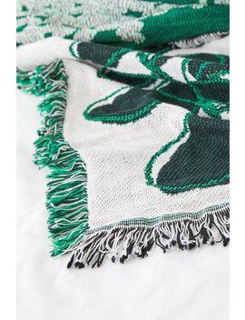 Calhoun & Co. Plants! Throw Blanket by Calhoun &Amp; Co.