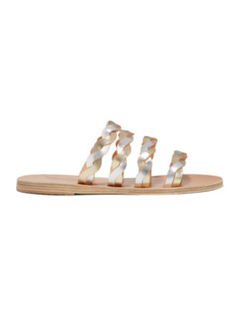 Kynthia Braided Metallic Leather Sandals by Ancient Greek Sandals