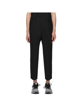 Black Basics Trousers by Homme PlissÉ Issey Miyake