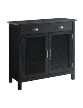 Olivia Black Accent Cabinet, 2 Shutter Doors And 2 Drawers by Usl