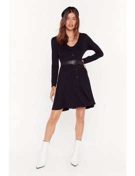 Nobody Can Drag Me Button Down Mini Dress by Nasty Gal