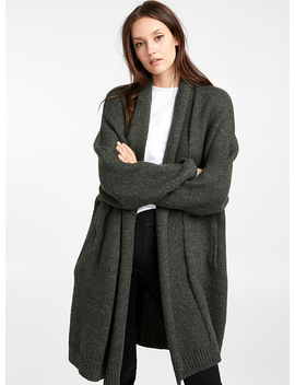 Shawl Collar Long Cardigan by Icône