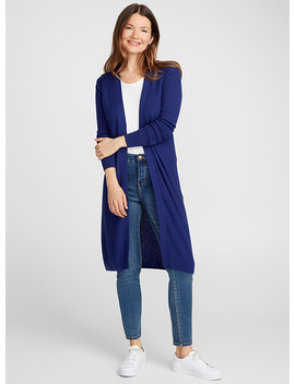 Long Ribbed Cardigan by Contemporaine