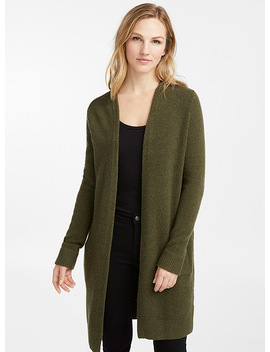 Long Loose Open Cardigan by Contemporaine