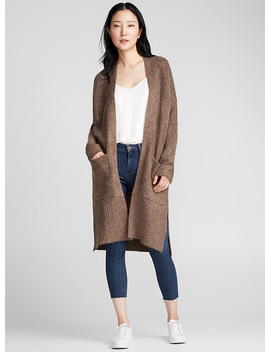 Long Patch Pocket Cardigan by Contemporaine