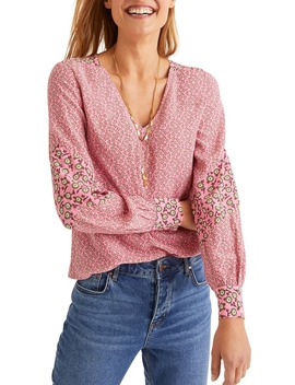 Eva Ditsy Floral Print Top by Boden