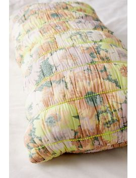 Ruby Quilted Floral Body Pillow by Urban Outfitters