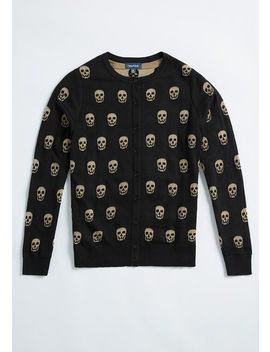 It's A Skull World Cardigan by Modcloth