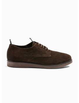 Hudson Brown Real Suede Barnstable Derby Shoes by Topman