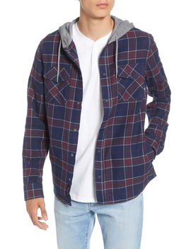 Parkway Classic Fit Plaid Flannel Hooded Shirt Jacket by Vans