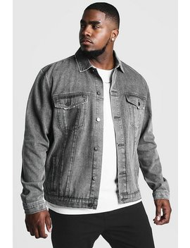Big & Tall Denim Western Jacket by Boohoo