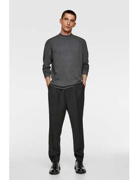 Basic High Neck Sweater View All Knitwear Man by Zara