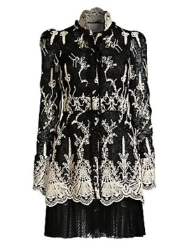 Hilaria Embroidered Lace Dress by Alexis