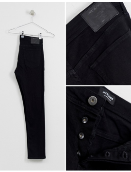 Jack &Amp; Jones Slim Tapered Fit Jeans In Black by Jack & Jones