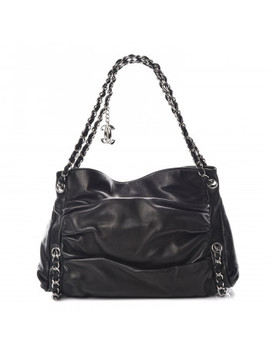 Chanel Lambskin Large Sharpei Shoulder Bag Black by Chanel