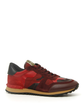 Men's Rock Runner Camo Trainer Sneakers by Valentino Garavani
