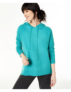 Cashmere Thermal Hoodie Sweater, Created For Macy's by General