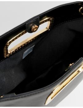 Asos Design Winged Saddle Shopper Bag With Hardware Handle by Asos Design